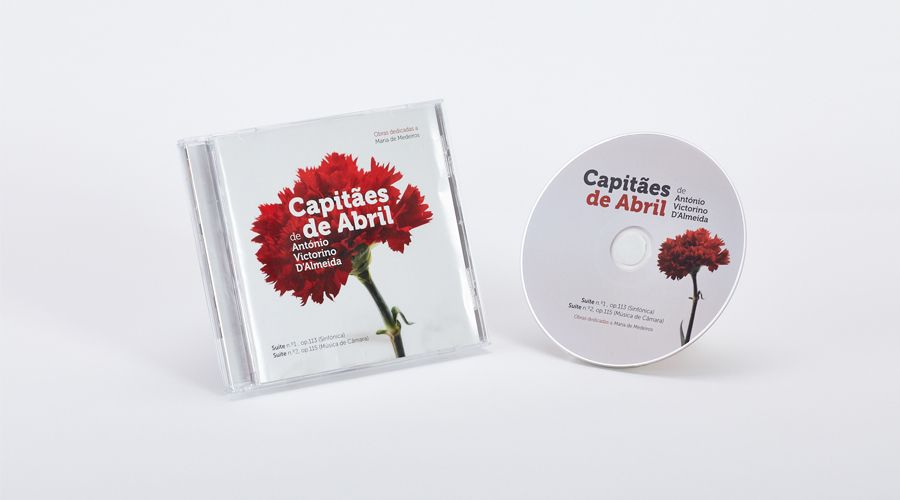 CD Audio / Jewel Box - Capitães de Abril - António Victorino d'Almeida